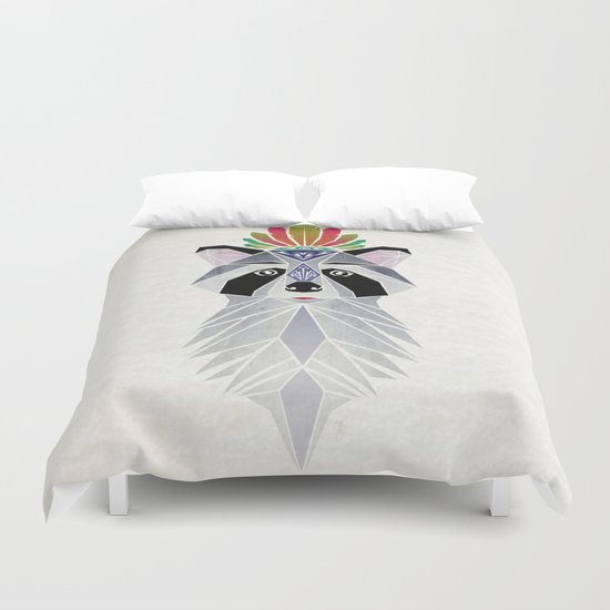 raccoon spirit Duvet Cover