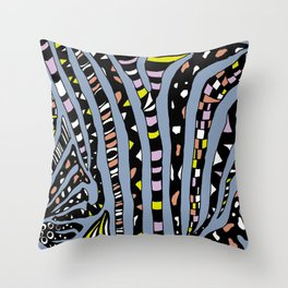 Bedazzled Zebra Throw Pillow