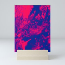 Pink - Purple - Blue Abstract Vector Texture Mini Art Print