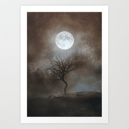 The Moon And The Tree Art Print