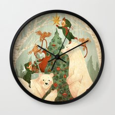 Christmas Card 2014 Wall Clock