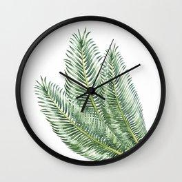 Three Palm Leaves Wall Clock