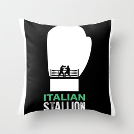 Italian Stallion Balboa Ring Throw Pillow