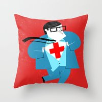 heroes Throw Pillows featuring Heroes by Simone Massoni