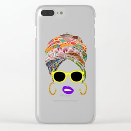 Afritude 1 Clear iPhone Case