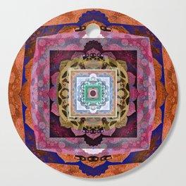 Rustic Antique Tones Sacred Geometry Boho Mandala Cutting Board