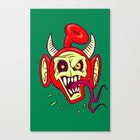 evil dead Canvas Prints featuring Evil Dead Po by Artistic Dyslexia