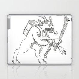 Krampus With Stick Doodle Art Laptop & iPad Skin