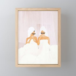 Morning with a friend Framed Mini Art Print
