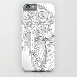 big bike drawing, front iPhone Case