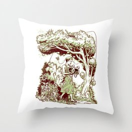 Intersectional Nature Throw Pillow