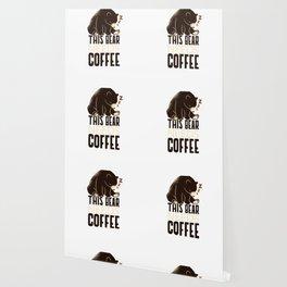 This Bear Needs Coffee Caffeine Lover Wallpaper