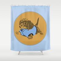 puppy Shower Curtains featuring Puppy. by Ly Stilinski