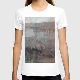 Nocturne In Blue And Gold Valparaiso Bay By James Mcneill Whistler   Reproduction T-shirt