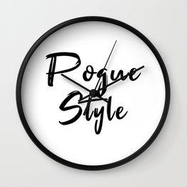 Pogue Style Wall Clock