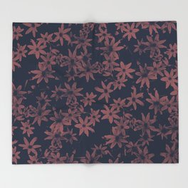 Flowers at Dawn Throw Blanket