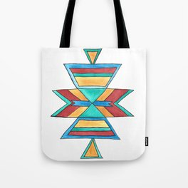 Colorful Tribal Design Tote Bag