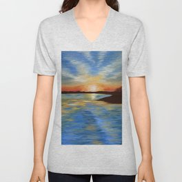 End of a Perfect Day Unisex V-Neck