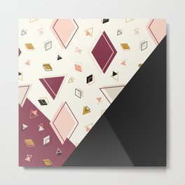 Rhombus Mix #society6 #decor #buyart Metal Print