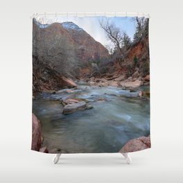 Virgin_River in Winter - Zion_National_Park Shower Curtain