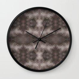 Kaleidoscopic design in dark colors Wall Clock