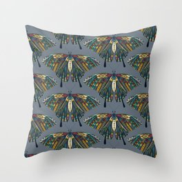 swallowtail butterfly indigo Throw Pillow