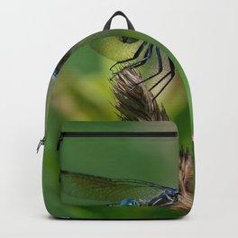 Blue Dasher Dragonfly Backpack