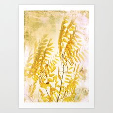 Yellow Branch Art Print