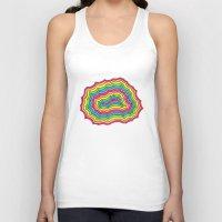 geode Tank Tops featuring Rainbow Geode by Audrey Pixel Designs
