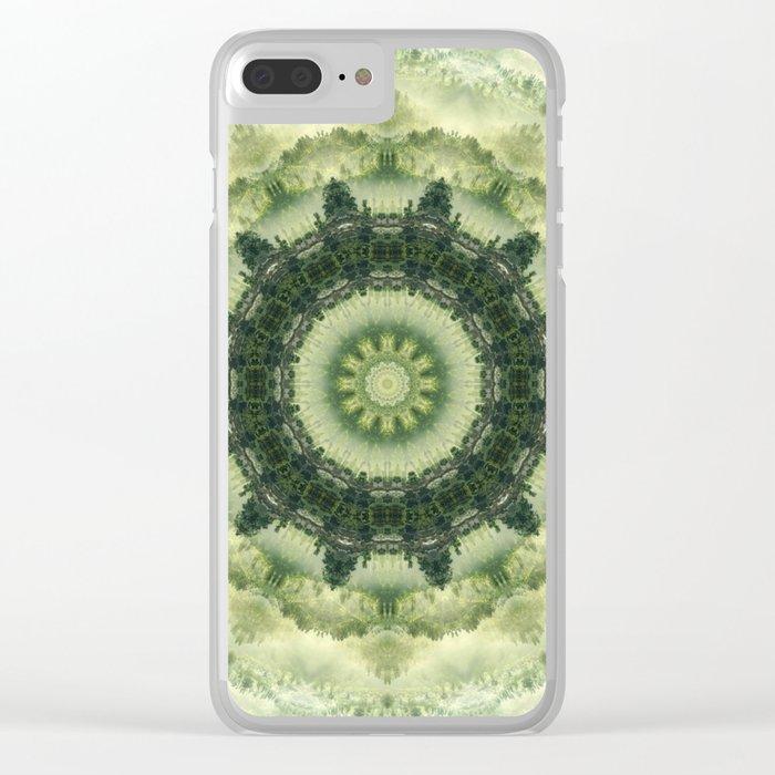 Mandala in Green gentle tones . Clear iPhone Case