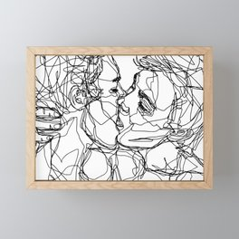 Boys kiss too Framed Mini Art Print