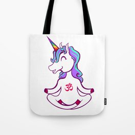 Unicorn Yoga Aum Tote Bag