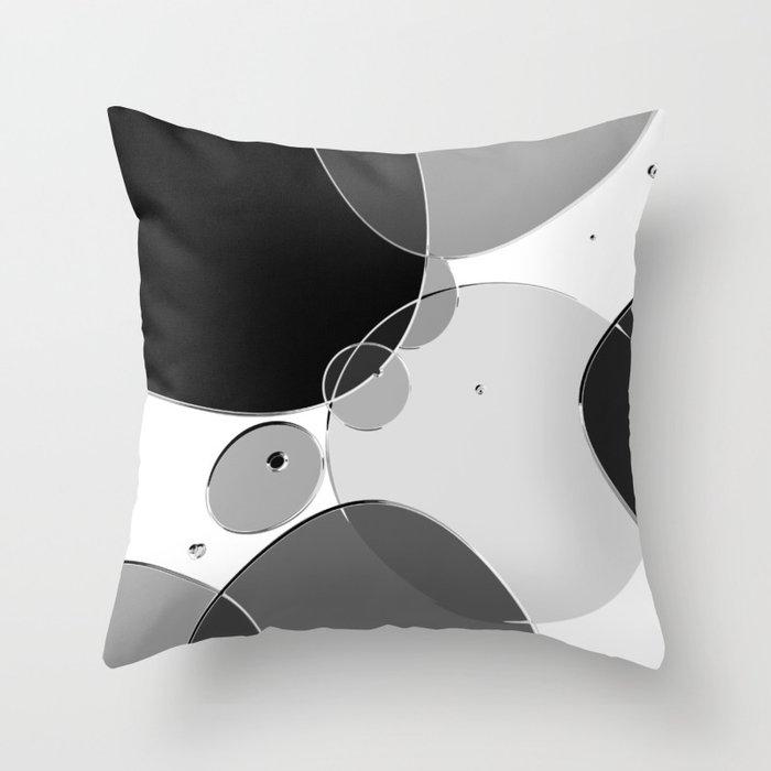 Circle Series - Chrome Throw Pillow