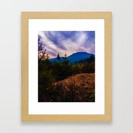 Sunset at Comox Lake Framed Art Print