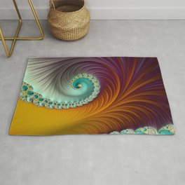 Marmalade Swirl - Fractal Art  Rug