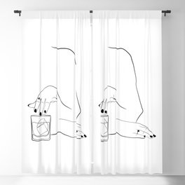 Whiskey Woman Blackout Curtain