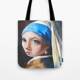 Z imagination Girl with a Pearl Earring Tote Bag