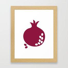 Bordo abstract sweet pomegranate fruit Framed Art Print