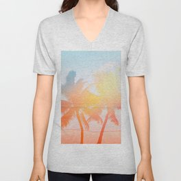 Tropicana seas - sundown Unisex V-Neck