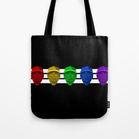 tyler the creator Tote Bags featuring Tyler the Creator (Divide) by KAZOO