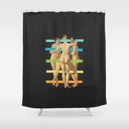 Les Trois Graces Shower Curtain