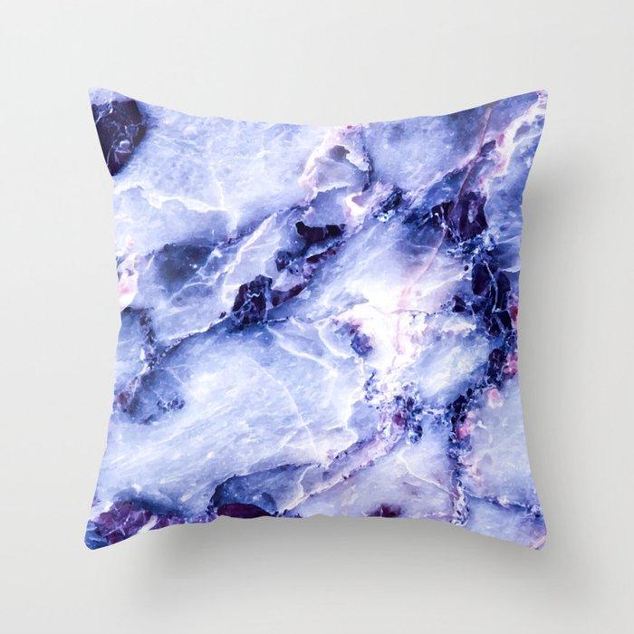 Purple Marble Deko-Kissen