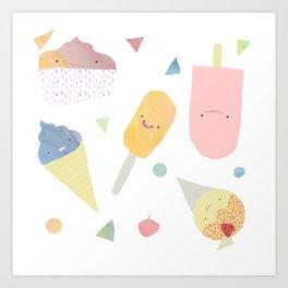 Icecream - Scream Art Print