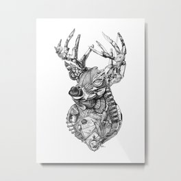 Deer Diary Metal Print