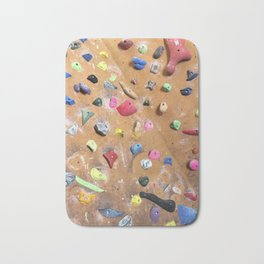 Wooden boulders climbing gym bouldering photography Bath Mat