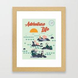 Adventure Shibas Framed Art Print
