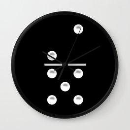 Black Domino / Domino Negro Wall Clock