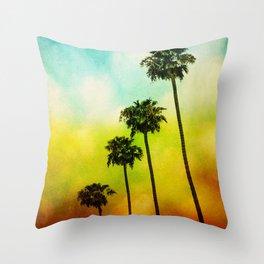 4 Palms Throw Pillow