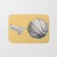 Basketball spin orange Bath Mat