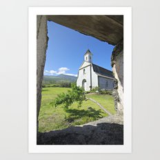 St. Joseph's Church, Maui Art Print